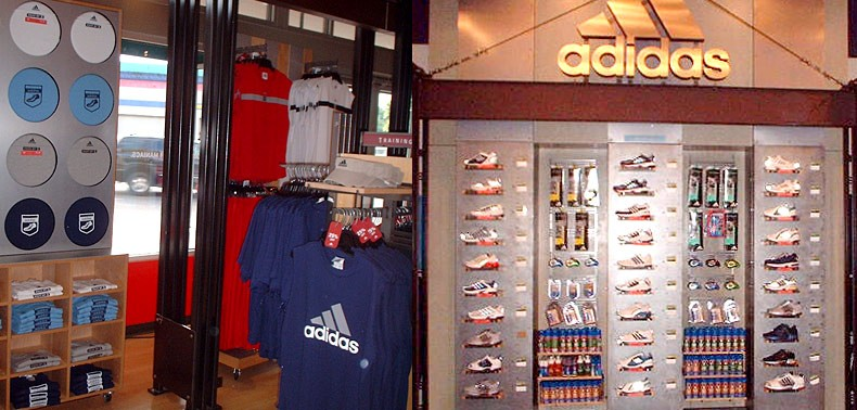 All Trades GC - Adidas Store Fixtures and Retail Display